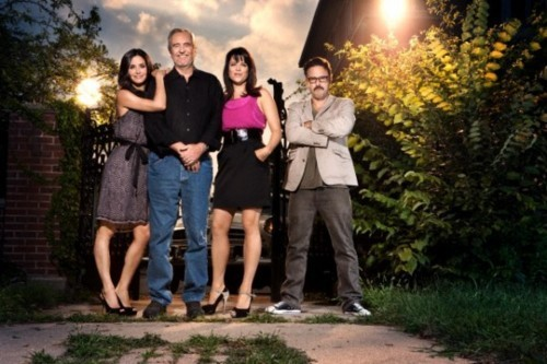 Courtney Cox,Wes Craven,Neve Campbell and David Arquette