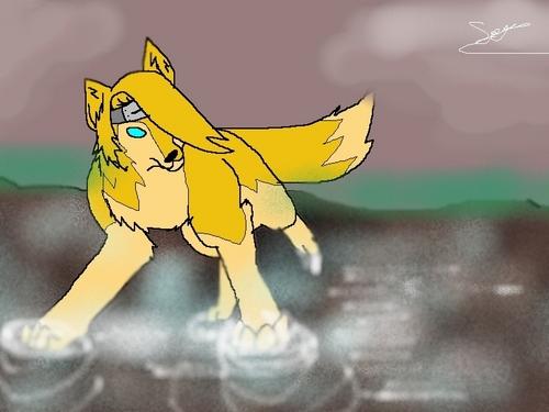 Deidara's 狼 Form