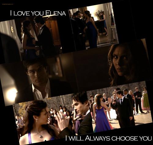 Delena = True pag-ibig (I pag-ibig U Elena, I Will ALWAYS Choose U) 100% Real ♥