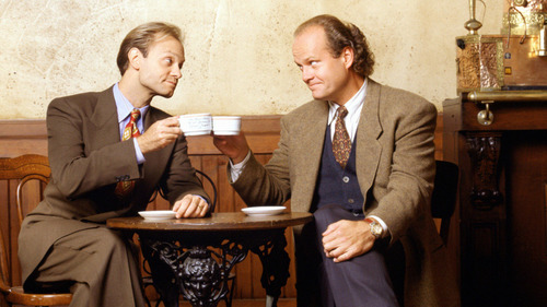 Frasier fondo de pantalla containing a business suit and a suit entitled Frasier and Niles