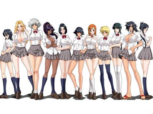anime bleach wallpaper entitled GIRLS