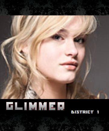 Hunger Games karatasi la kupamba ukuta containing a portrait entitled Glimmer ~ District 1