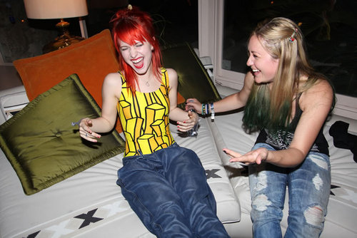 Paramore پیپر وال called Hayley Williams at Jeremy Scott Adidas Party