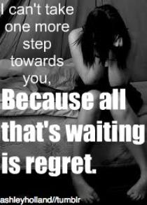I can't take one और step...
