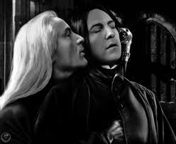 I'm sorry but doesn't this look a little saucy for Lucius and Snape? *giggles*