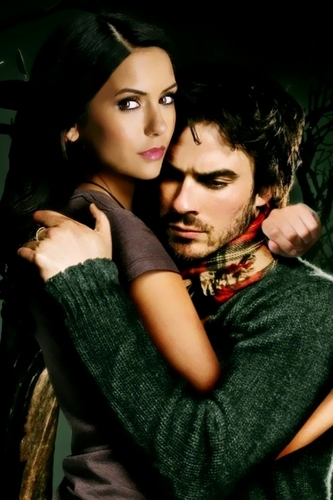 Ian Somerhalder and Nina Dobrev wallpaper possibly containing a portrait called Ian & Nina Manip
