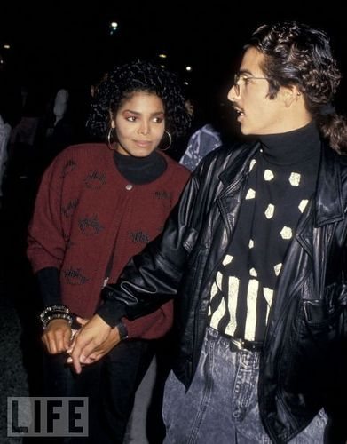 janet jackson fondo de pantalla probably with a box capa and an outerwear entitled JANET JACKSON WITH RENEE ELIZONDO IN 1988