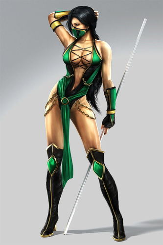 Video Games achtergrond possibly with a hip boot called Jade Mortal Kombat 9