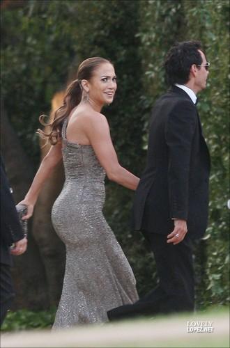 Jennifer Lopez attending Brad Grey's Wedding!