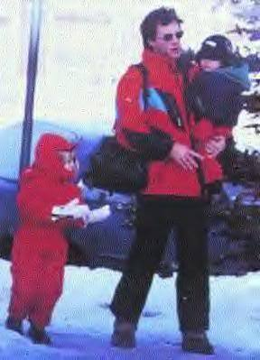 Jon Bon Jovi & kids, Aspen 1996