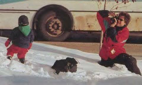 Jon Bon Jovi & kids, Aspen 1996 - bon-jovi Photo