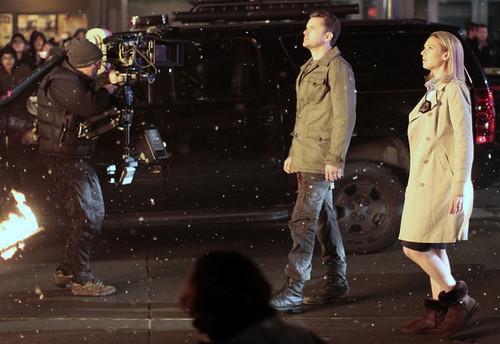 "Joshua Jackson On Set Filming TV tunjuk ""Fringe"""