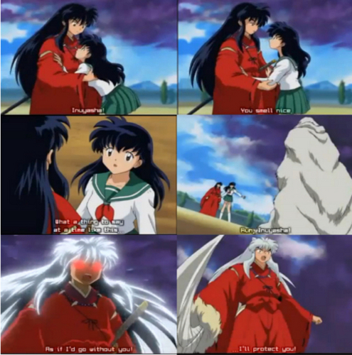 inuyasha y kagome fondo de pantalla with anime entitled Kagome and inuyasha ♥