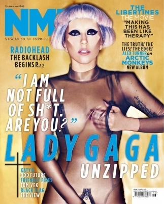 Lady Gaga covers NME Magazine