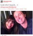 Lea & Jon on the set of Glee S2!!