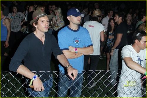 Leonardo DiCaprio: Coachella with Lukas Haas!