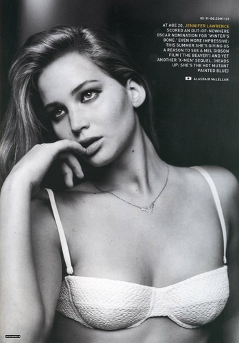 Jennifer Lawrence hình nền probably containing a brassiere entitled Magazine scans: GQ - May 2011