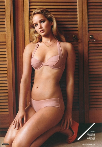 Jennifer Lawrence hình nền containing a bikini entitled Magazine scans: GQ - May 2011
