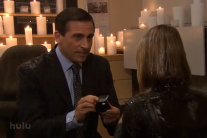 Michael proposing to Holly - the-office Photo