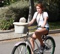 Miley_riding bike
