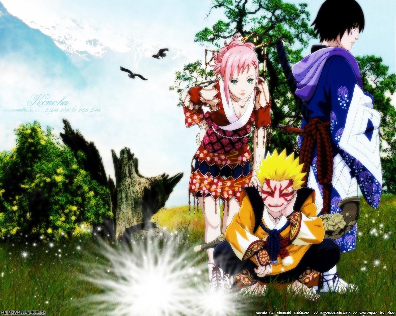 Naruto Shippuuden Naruto + Sakura + Sasuke