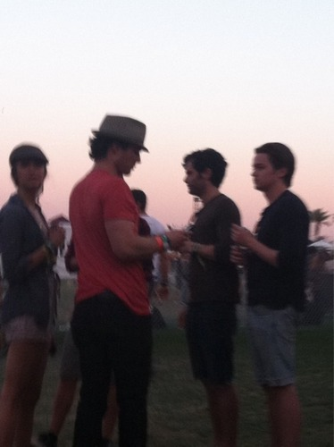Nian @ Coachella (w/ Penn Badgley)