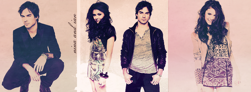 Ian Somerhalder and Nina Dobrev wallpaper called Nina/Ian, baby.