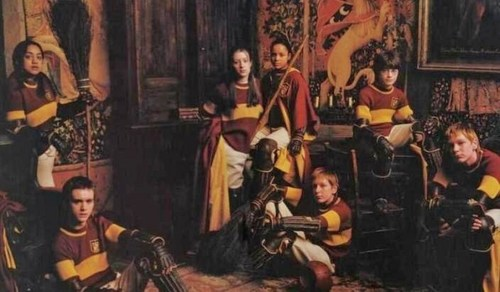 Oliver with his Quidditch team mates