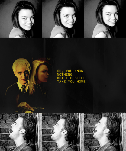 Harry Potter hình nền possibly with a portrait titled Pansy Parkinson and Draco Malfoy