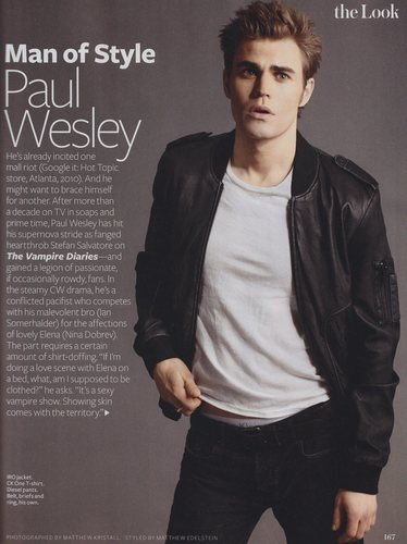Paul Wesley - InStyle's Man of Style