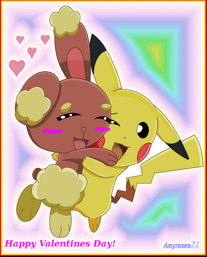 Pikachu and Buneary :3