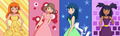 Pokegirls - misty-may-and-dawn fan art