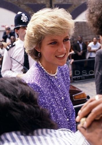 Princess Diana, Brixton, London, July 1987