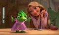 Rapunzel & Pascal her pet chamaleon