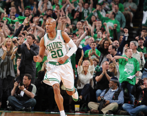 Ray Allen making the winning shot - boston-celtics Photo