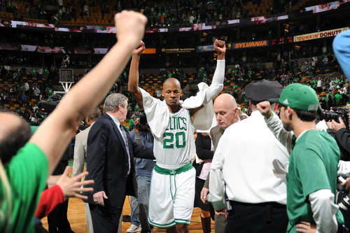 raio, ray Allen making the winning shot