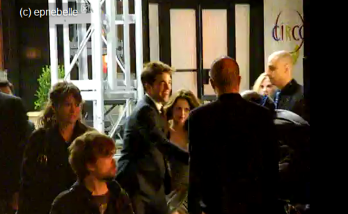 Rober and Kristen at WFE premiere last night