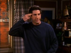 Ross Geller -the-one-with-the-mix-tape