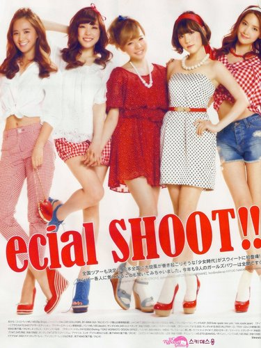 SNSD @ Sweet Magazine – May Issue 2011