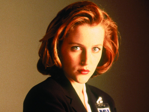 The X-Files wallpaper probably with a well dressed person, a business suit, and a portrait called Scully