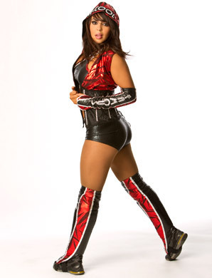 WWE-蕾拉 壁纸 probably containing a hip boot called Sexy Lady Layla
