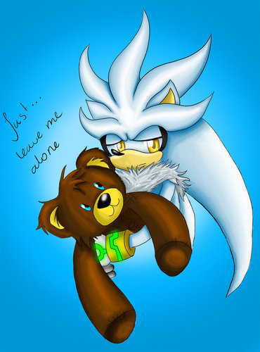 Silver the Hedgehog wallpaper entitled Silver and his teddy
