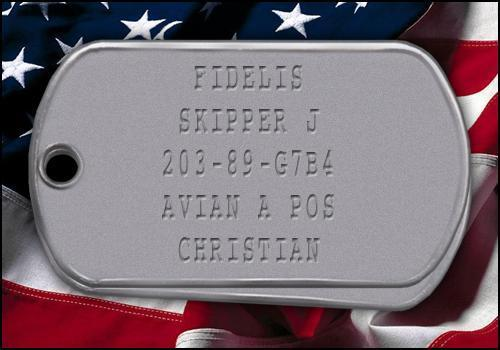 Skipper's Dog Tag