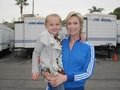 Sue Sylvester (Jane Lynch) and Mini Quinn