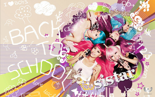 SISTAR (씨스타) wallpaper probably with anime called The Mighty Sistar Ever!