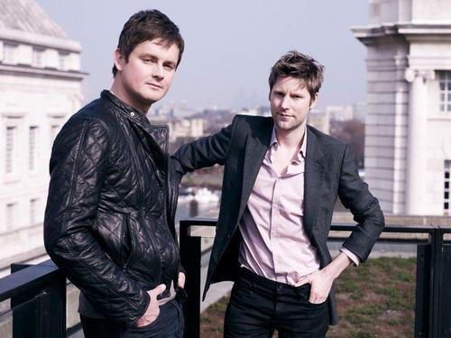 Tom Chaplin and Christopher Bailey - burberry