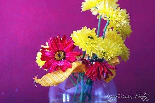 Vase of Цветы