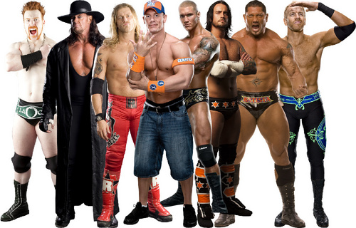 WWE 바탕화면 titled WWE Superstars
