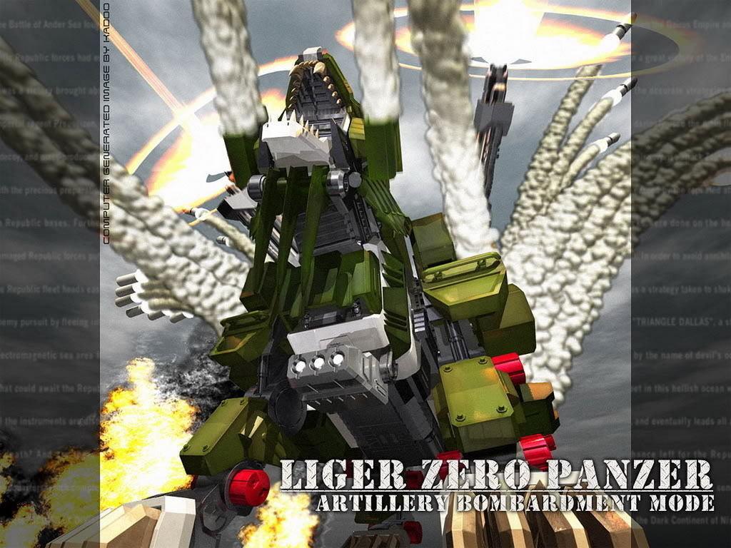 ZOIDS HMM Liger Zero Panzer: Painted Build.