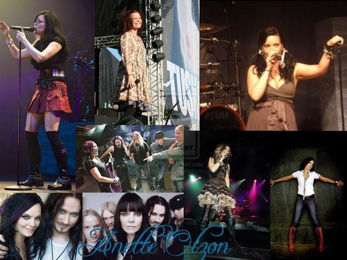Nightwish wallpaper with a concert entitled anette